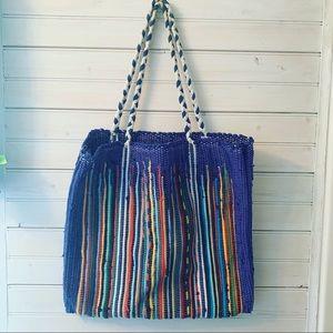 Handbags - Vintage Rag Rug Loomed Purse